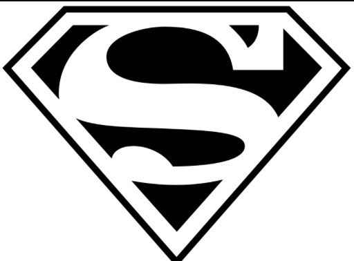superman emblem coloring sheet