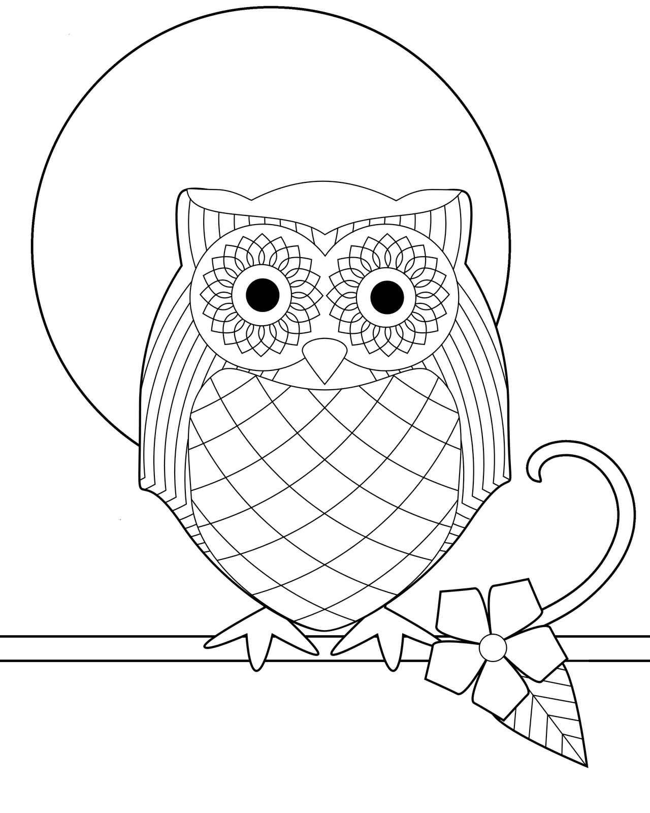 cute owl printable coloring pages your kiddos will love coloring