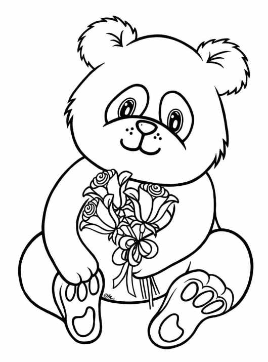 baby panda bear coloring pages