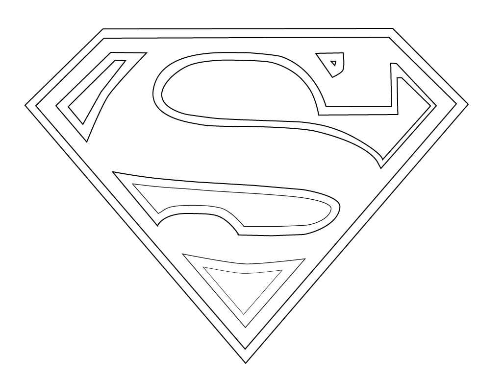 Superman Logo Coloring Pages Free Coloring Page