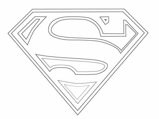 superman symbol coloring page