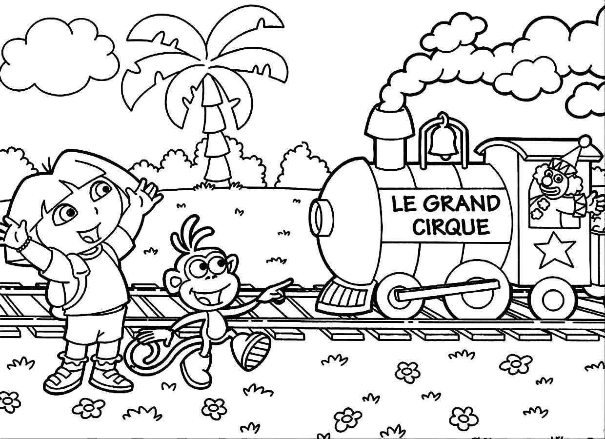 Dora Coloring Pages free For Kids | 900x1240