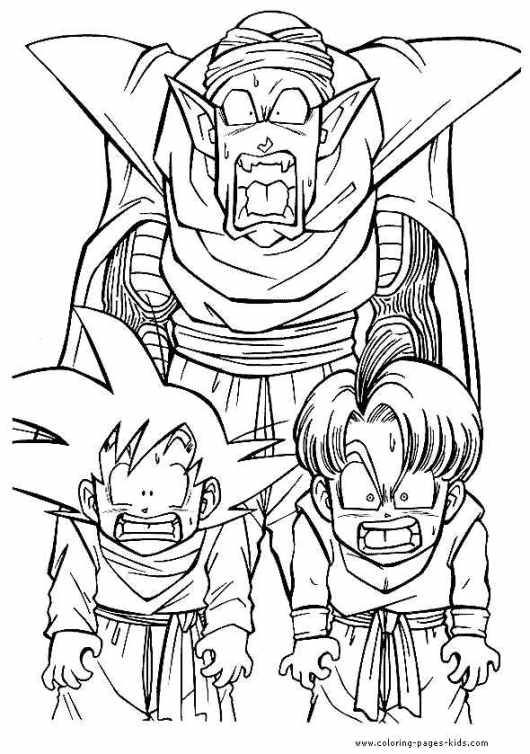 dragon ball z kai coloring pages to print