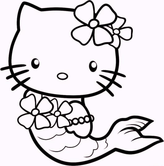 Hello-Kitty-Mermaid-coloring-pages
