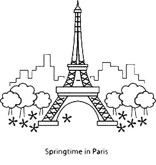 Eiffel-Tower-Coloring-Pages