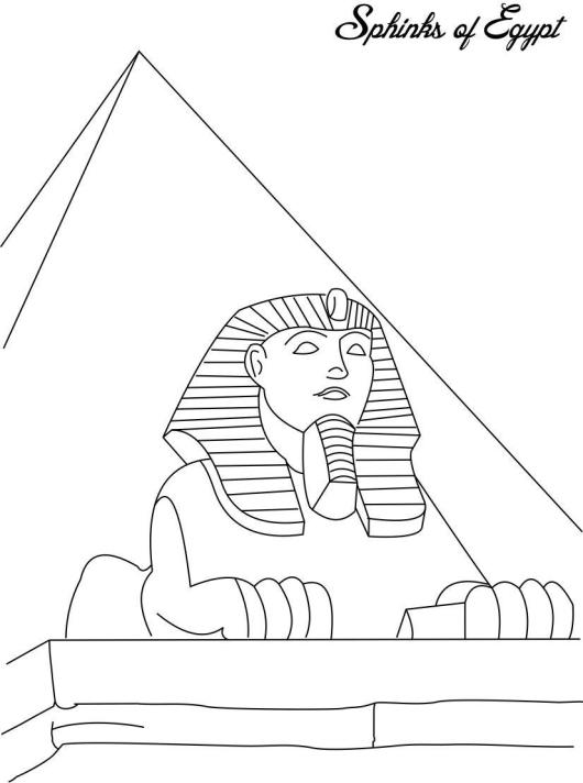 Sphinks-Egypt-coloring-pages