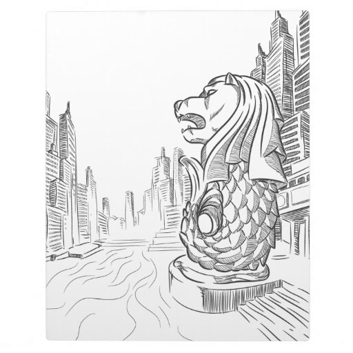 landmark_merlion-coloring-pages