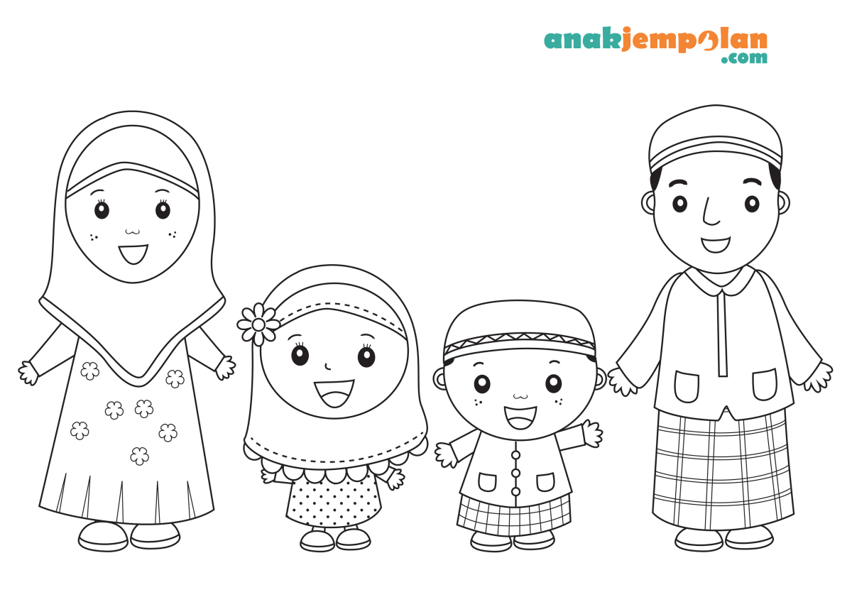 Muslim Family Coloring Pages
