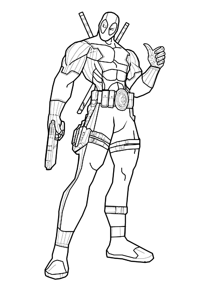Coloring pages deadpool - Deadpool Coloring Pages For Boys