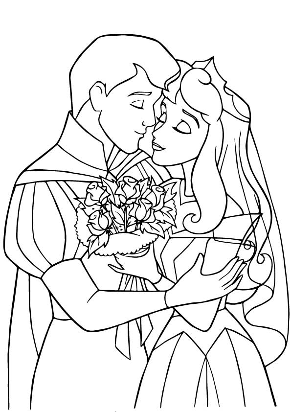 The Prince Princess Wedding Coloring Pages Prince And Princess Coloring Page Free Coloring Sheets