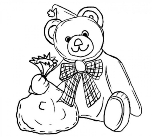 Cute-Teddy-Bear-Coloring-Pages-Pictures