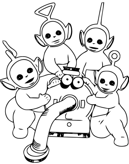 Teletubbies-Coloring-Pages-Completed-Team