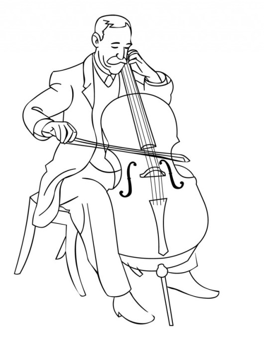 double-bass-music-instrument-coloring-pages