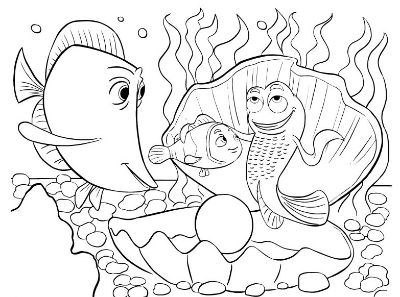 finding nemo coloring cute fish coloring pages for toddlers