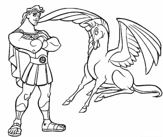 hercules-and-pegasus-coloring-pages