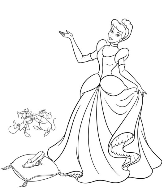 beautiful cinderella coloring pages for girls coloring pages