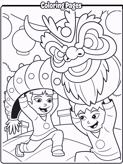 Chinese dragon coloring pages to print coloring pages for Chinese new year dragon coloring page