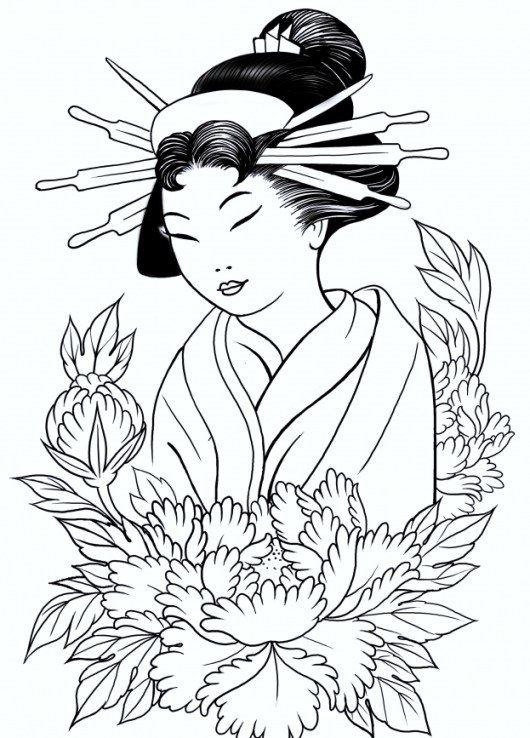 japanese-geisha-coloring-pages