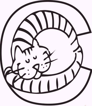 c-alphabet-cat-coloring-pages