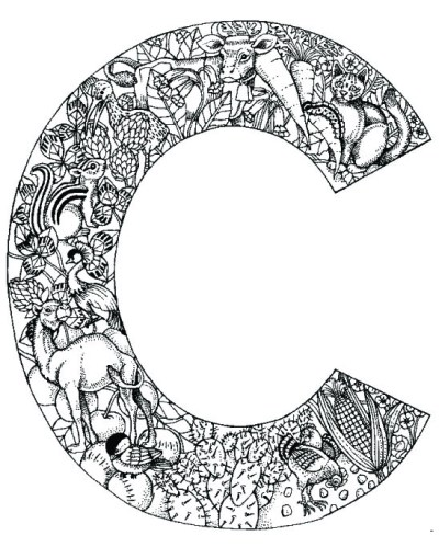 coloring_pages_animal_plant_abc_alphabet_C