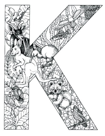 coloring_pages_animal_plant_abc_alphabet_K