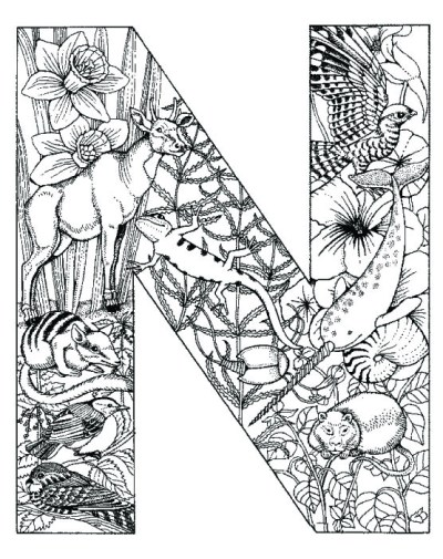 coloring_pages_animal_plant_abc_alphabet_N