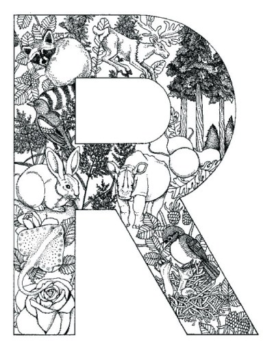 coloring_pages_animal_plant_abc_alphabet_R