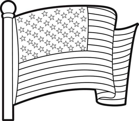 Printable-USA-flag-coloring-page