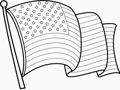 USA Flag Coloring Page and Her History for Students