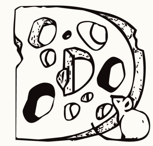 alphabet-D-cheese-coloring-pages-for-preschool