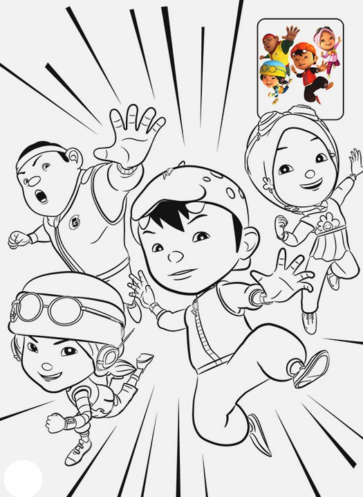 Boboiboy Coloring Book Coloring Pages