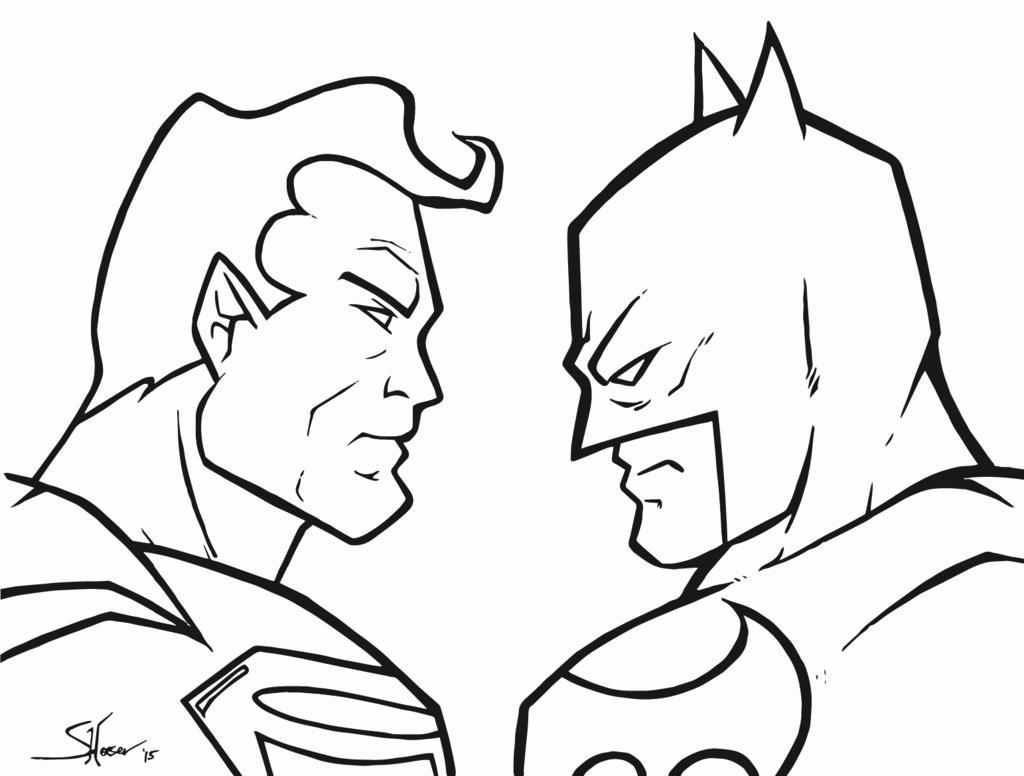Dc Comics Superhero Superman Vs Batman Coloring Pages
