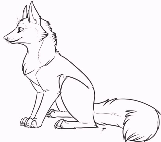 fox_wolf_animal_coloring_pages