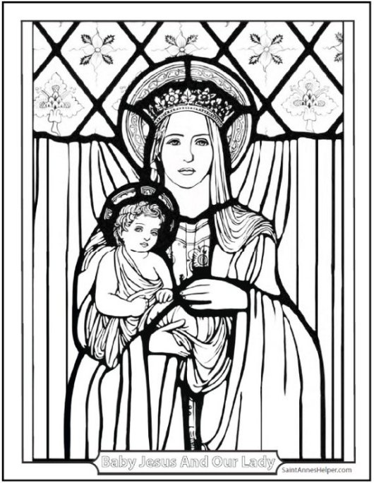 mary-mother-of-jesus-coloring-page