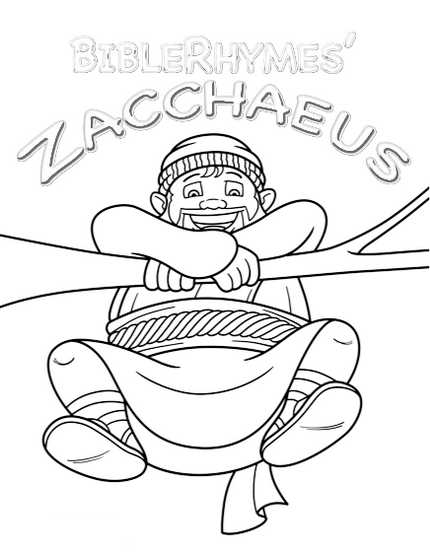 photo about Zacchaeus Printable named Coloring Web pages Zacchaeus For Preschoolers Printable - BWWM