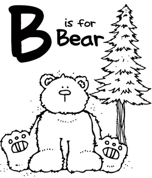 Alphabet-B-coloring-page-for-preschool
