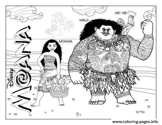 Searching-for-Moana-coloring-page