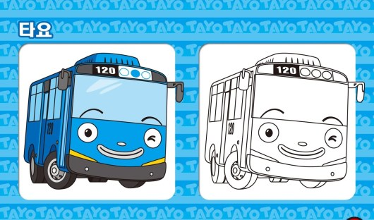 Tayo-The-Little-Bus-including-example-result-Coloring-Page