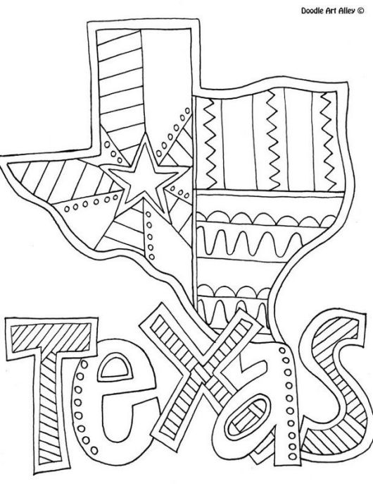 Texas-Map-Coloring-Pages