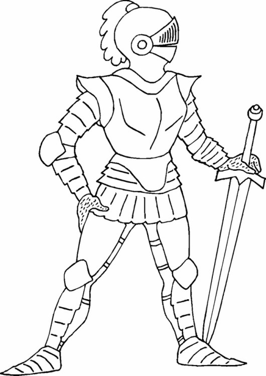 Wonderful-Knight-Coloring-Pages-for-kids