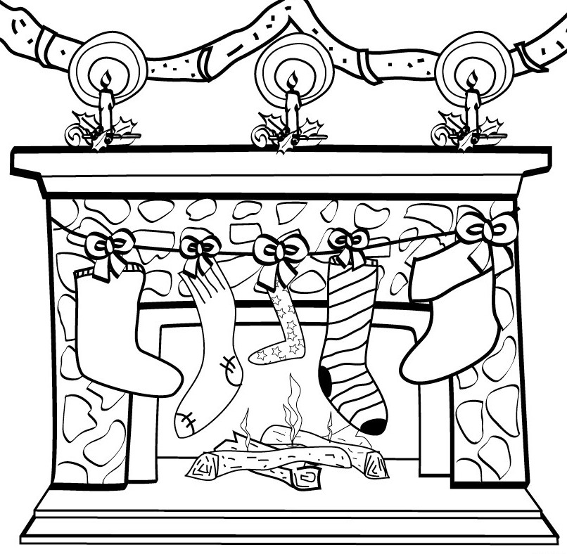 christmas-stocking-and-chimney-coloring-page