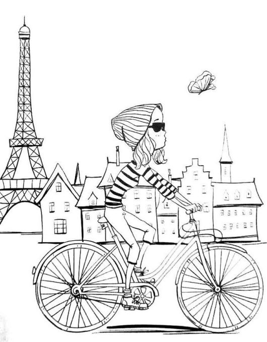 Top Collection Of Eiffel Tower Colouring Pages