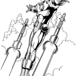 flight-iron-man-coloring-page
