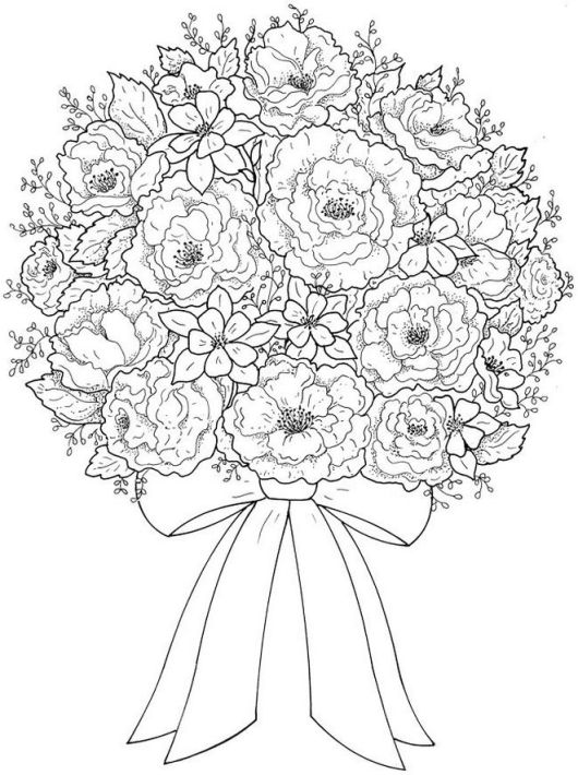 Flower Bouquet Coloring Pages Coloring Pages
