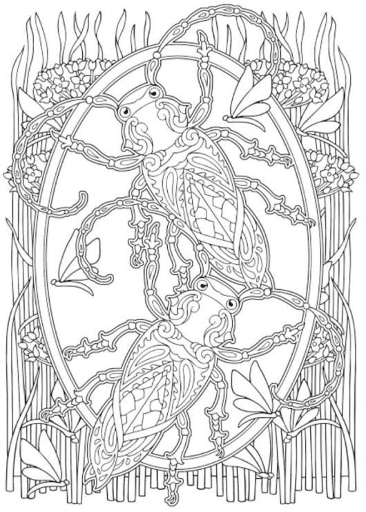 Insect Mandala Coloring Pages