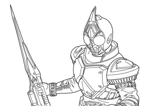 kamen-rider-coloring-page-to-print