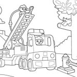 Lego Duplo Fire Truck Coloring Page To Print