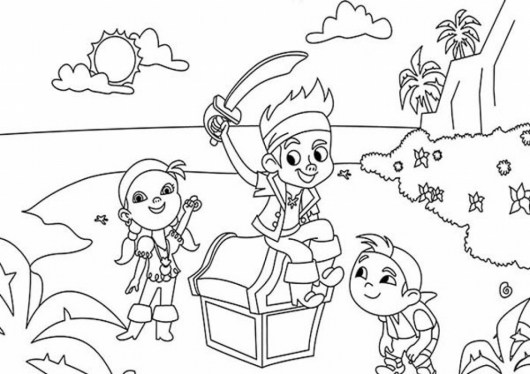 Jake And The Never Land Pirates Coloring Print out