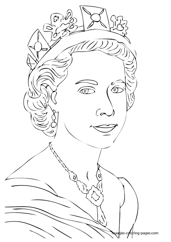 Royalfamilyukelizabethcoloringpages