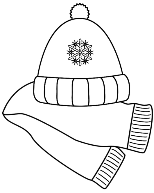 scarf_and_hat_winter_coloring_pages